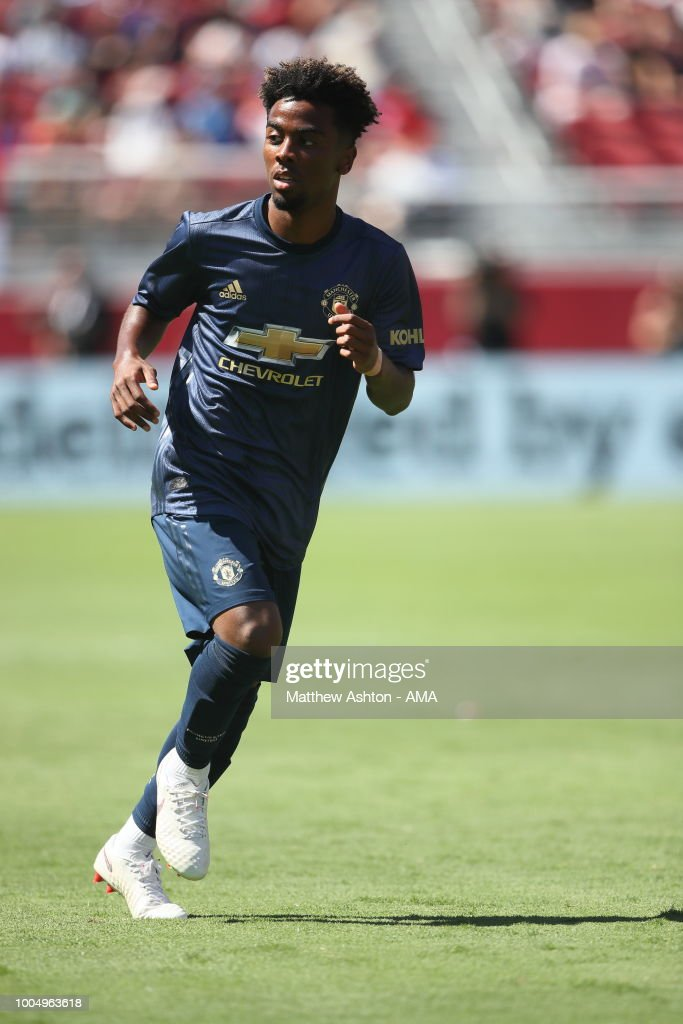 Angel Gomes of Manchester United during the Pre-Season match between Manchester United v San Jose Earthquakes at Levi's Stadium on July 22, 2018 in Santa Clara, California.