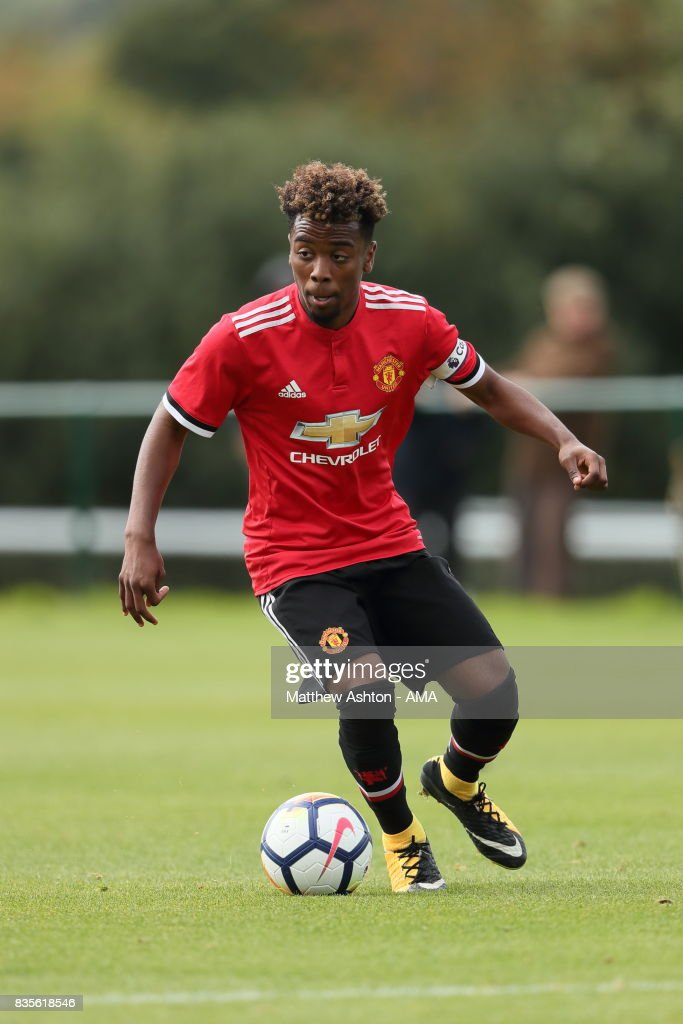 Angel Gomes of Manchester United during the U18 Premier League match between West Bromwich Albion and Manchester United on August 19, 2017 in West Bromwich, England.