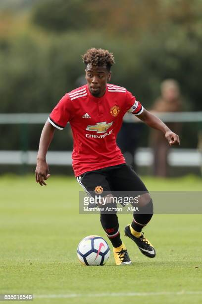 Angel Gomes of Manchester United during the U18 Premier League match between West Bromwich Albion and Manchester United on August 19 2017 in West...