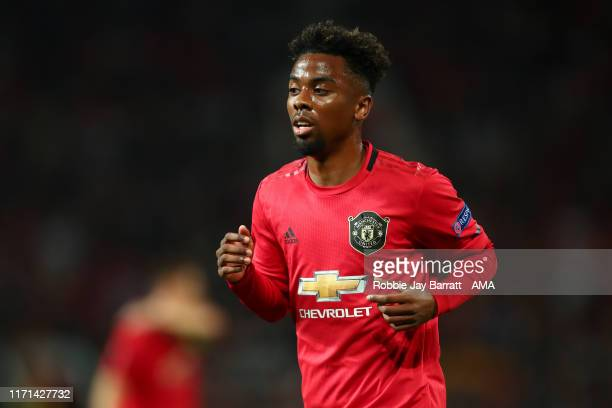 Angel Gomes of Manchester United during the UEFA Europa League group L match between Manchester United and FK Astana at Old Trafford on September 19,...