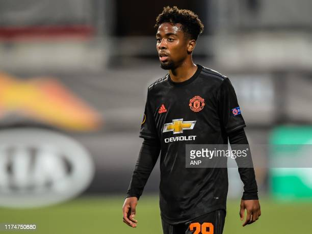 Angel Gomes of Manchester United during the UEFA Europa League group L match between AZ Alkmaar and Manchester United at Cars Jeans stadium on...