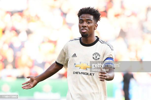 Angel Gomes of Manchester United U21 during the EFL Trophy match between Rotherham United and Manchester United U21 at AESSEAL New York Stadium on...
