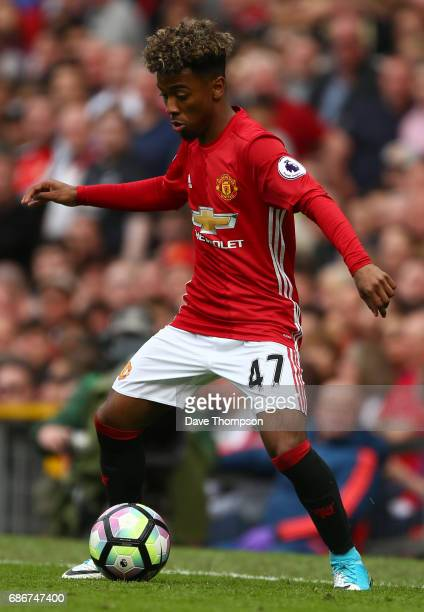 Angel Gomez of Manchester United during the Premier League match between Manchester United and Crystal Palace at Old Trafford on May 21 2017 in...
