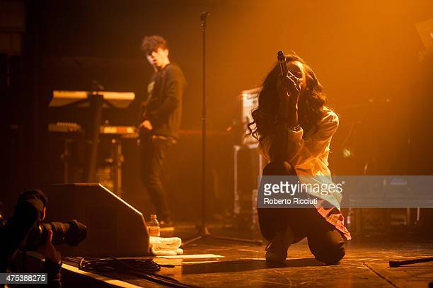 Angel Haze performs on stage at The Corn Exchange on February 27, 2014 in Edinburgh, United Kingdom.