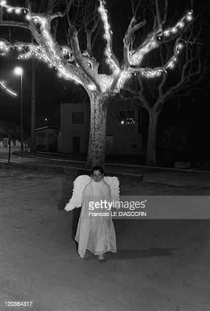 Angel in Cadenet France in 2002 Nativity festival at Cadenet in the Vaucluse region of France