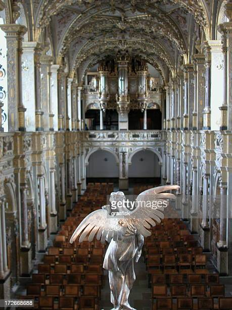 angel in danish church 1 - frederiksborg castle stock pictures, royalty-free photos & images
