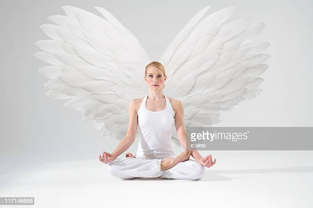 Angel in meditation