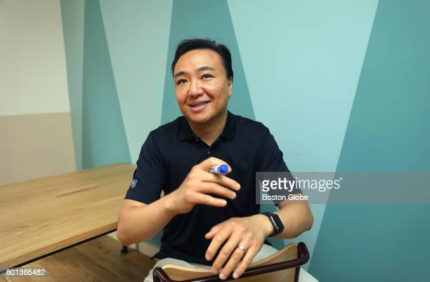 Angel investor David S Chang is pictured at WeWork St James in Boston on Jun 20 2017