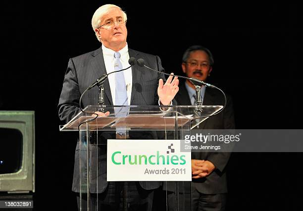 Angel Investor Ron Conway speaks onstage at the 5th Annual Crunchies Awards at Davies Symphony Hall on January 31 2012 in San Francisco California