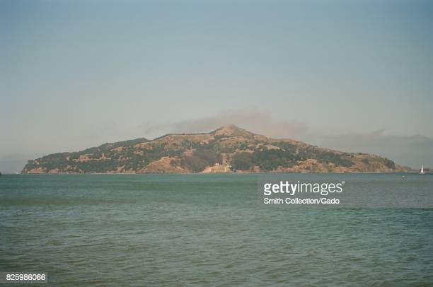 Angel Island is visible across the San Francisco Bay on a hazy day Sausalito California June 29 2017