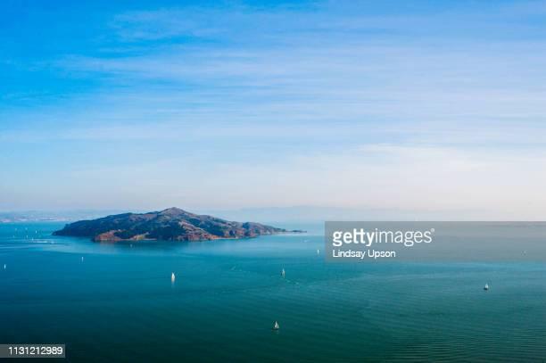 angel island, sausalito, california, usa - angel island stock photos and pictures
