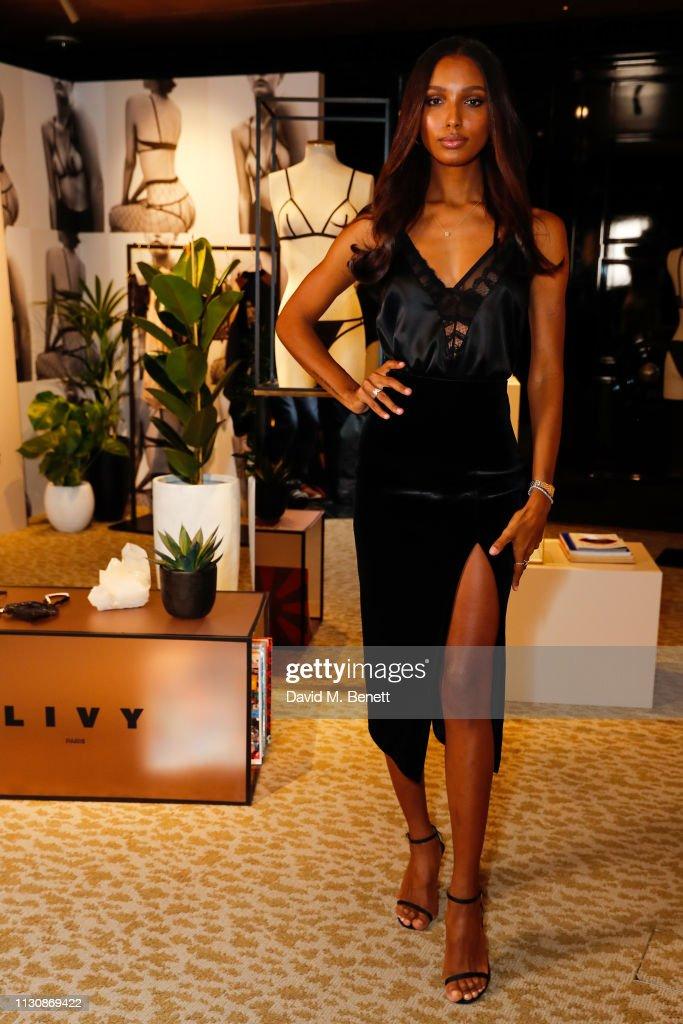 GBR: Angel Jasmine Tookes & Designer Lisa Chavy Celebrate French Lingerie Label LIVY At The Victoria's Secret New Bond Street Store