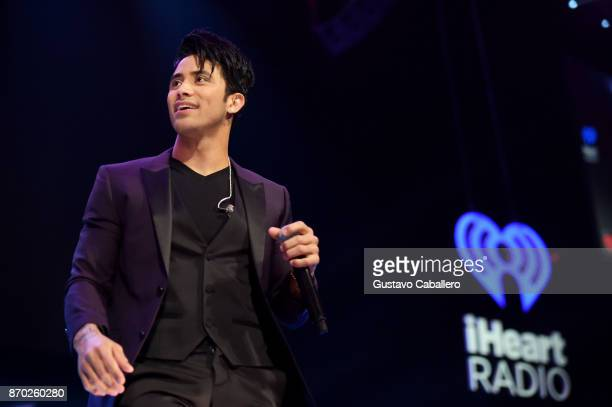Angel Jesus Rodriguez from the group Angeles performs onstage during the iHeartRadio Fiesta Latina Celebrating Our Heroes at American Airlines Arena...