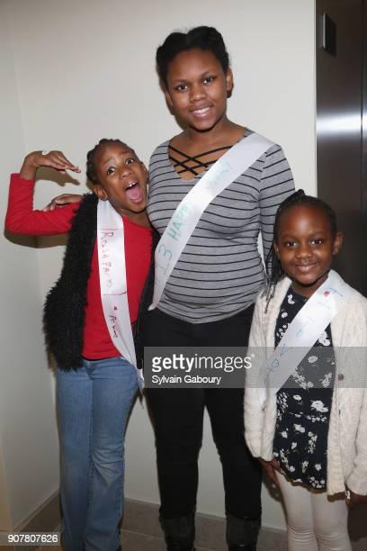 Angel Jones AJ Jones and Allura Bennete attend DiMenna Children's History Museum Family Benefit Party 2018 on January 20 2018 in New York City