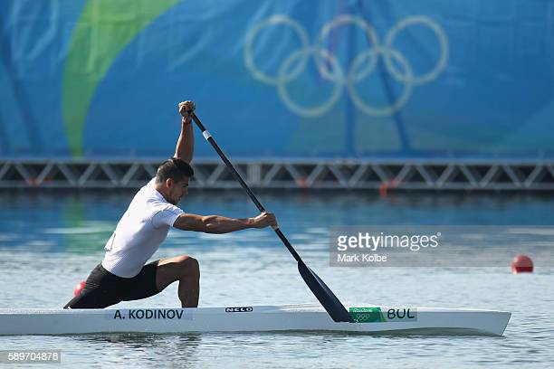Angel Kodinov of Bulgaria competes in the Men's Canoe Single 1000m Heat 3 on Day 10 of the Rio 2016 Olympic Games at Lagoa Stadium on August 15 2016...