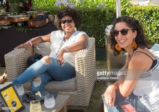 Angel Kristi Williams Adella Ladjevardi attend the Fast Track Happy Hour during the 2017 Los Angeles Film Festival on June 21 2017 in Culver City...