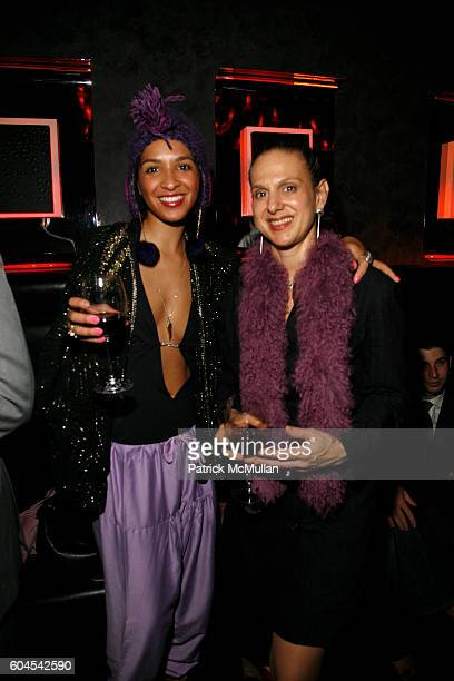 Angel LeGoff and Victoria Marin attend Vibrant Rioja Wines from Spain and Juli Bcom Host a Masquerade at The Night Hotel on November 30 2006 in New...