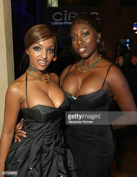 Angel Lola Love and Michelle V at The 2008 BET Awards Official After Party sponsored by Ciroc Vodka at the Roosevelt Hotel on June 24 2008 in...