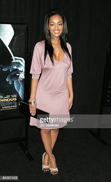 Angel Lola Love attends the premiere of 'Notorious' at the AMC Lincoln Square on January 7 2009 in New York City