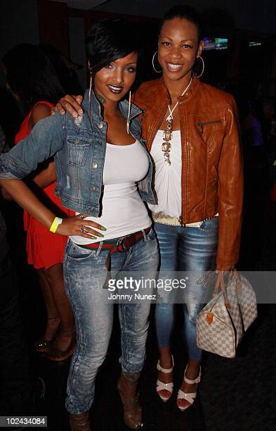 Angel Lola Luv and DJ EQ attend Bottles Strikes Tuesday at Chelsea Piers on June 8 2010 in New York City