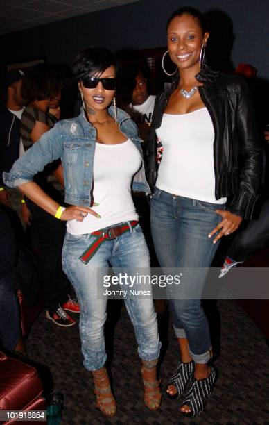 Angel Lola Luv and Jennifer Williams attend Bottles Strikes Tuesday at Chelsea Piers on June 8 2010 in New York City