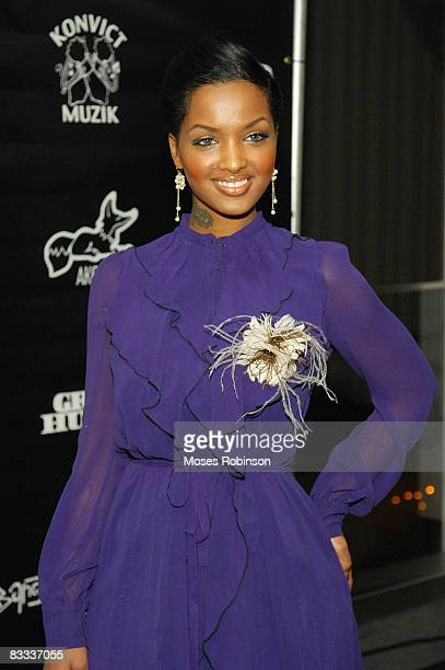 Angel Lola Luv arrives at the Interscope/Geffen/AM Records BET and Zone 4 party before the 2008 BET Hip Hop Awards at the W Midtown hotel on October...
