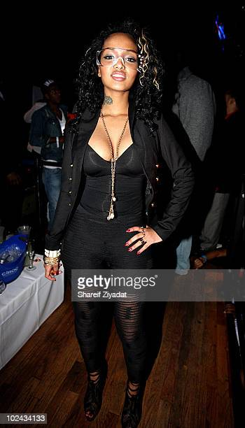 Angel Lola Luv attends Beamers Nightclub at on February 14 2010 in Dallas Texas