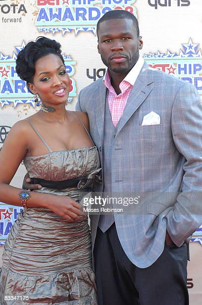 Angel Lola Luv recording artist 50 Cent arrive at the 2008 BET Hip Hop Awards at the Boisfeuillet Jones Atlanta Civic Center on October 18 2008 in...