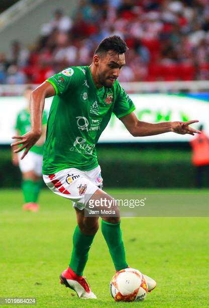 Angel Lopez of Alebrijes controls the ball during a match between Chivas and Alebrijes as part of Copa MX Apertura 2018 at Akron Stadium on August 14...