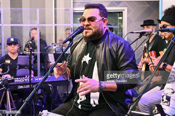 Angel Lopez performs on SiriusXM's Caliente Channel at the SiriusXM studios in New York City on July 25 2019 in New York City