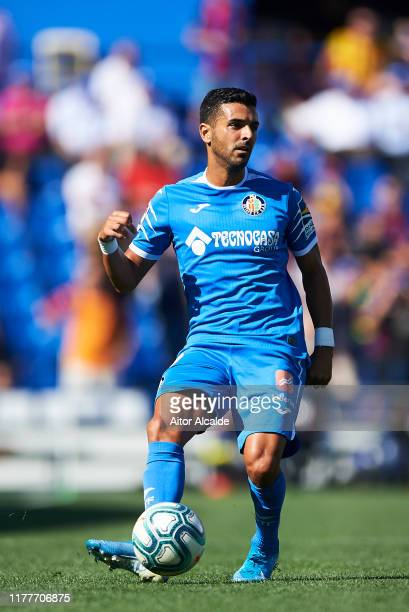 Angel Luis Rodriguez of Getafe CF in action during the Liga match between Getafe CF and FC Barcelona at Coliseum Alfonso Perez on September 28 2019...