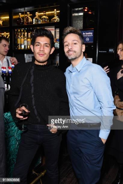 Angel Macias and Roger Quesada attend Leesa Rowland's Animal Ashram PopUp Penthouse on February 7 2018 in New York City