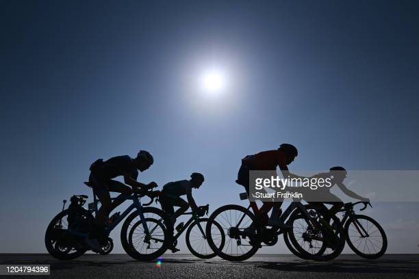 Angel Madrazo of Spain and Team Burgos BH / Richard Jones of United Kingdom and Team Ribble-Weldtite / Nigel Ellsay of Canada and Team Rally Cycling...