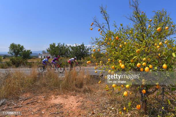 Angel Madrazo Ruiz of Spain and Team Burgos-BH Polka Dot Mountain Jersey / Jetse Bol of The Netherlands and Team Burgos-BH / José Herrada Lopez of...