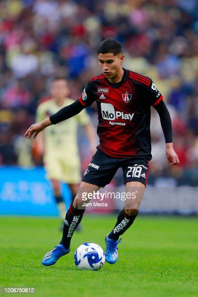 Angel Marquez of Atlas drives the ball during the 6th round match between America and Atlas as part of the Torneo Clausura 2020 Liga MX at Azteca...