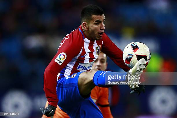 Angel Martin Correa of Atletico de Madrid controls the ball during the Copa del Rey quarterfinal match between Club Atletico de Madrid and SD Eibar...
