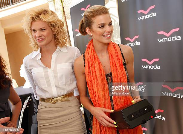 Angel McCord and AnnaLynne McCord attend the Kari Feinstein MTV Movie Awards Style Lounge held at Montage Beverly Hills on June 3 2010 in Beverly...