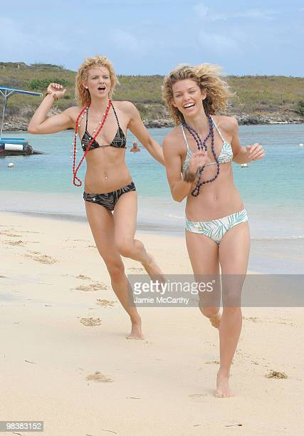 ST MAARTEN NETHERLANDS ANTILLES APRIL 10 Angel McCord and Annalynne McCord visit the Westin Dawn Beach Hotel in St Maarten at Tantra Nightclub and...