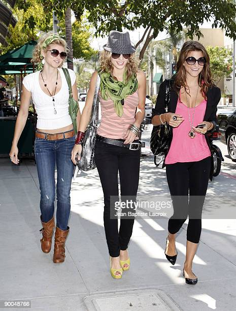 Angel McCord Annalynne McCord and Rachel McCord stop by Valerie Beauty Shop in Beverly Hills on August 23 2009 in Los Angeles California