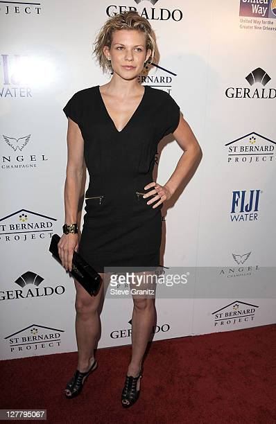 Angel McCord arrive at the Southern Style St Bernard Project Event With Ambassador Britney Spears in Beverly Hills California