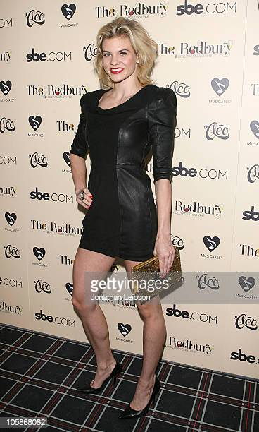Angel McCord arrives for the Grand Opening Of SBE's The Redbury Hotel at The Redbury Hotel on October 20 2010 in Hollywood California