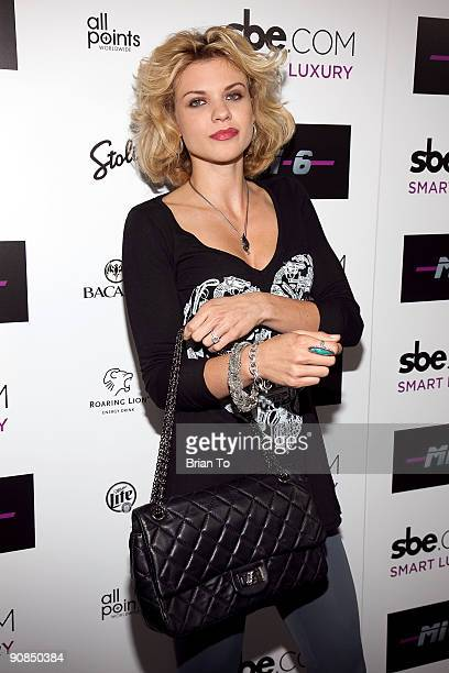 Angel McCord attends Mi6 Nightclub Grand Opening Party on September 15 2009 in West Hollywood California