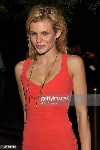 Angel McCord attends the after party for the 'Fallout New Vegas' Launch Event Featuring Vampire Weekend at XS The Nightclub at Encore Las Vegas on...