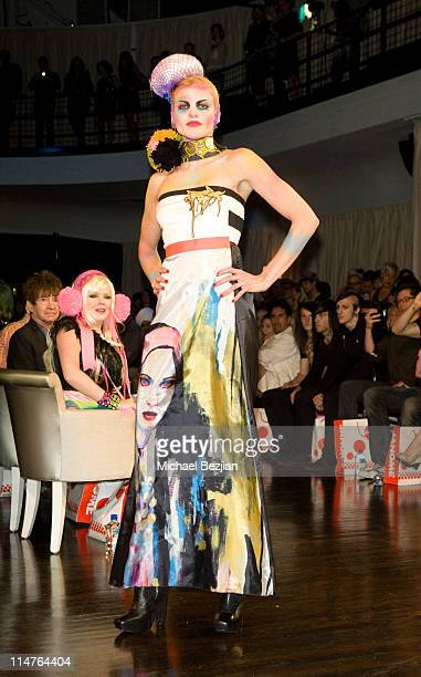 Angel McCord on runway at Gold Vs Petker Runway Event at Social Hollywood on July 30 2009 in Hollywood California