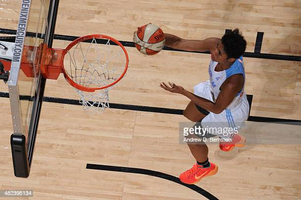 Angel McCoughtry of the Eastern Conference AllStars shoots during the 2014 Boost Mobile WNBA AllStar Game on July 19 2014 at US Airways Center in...