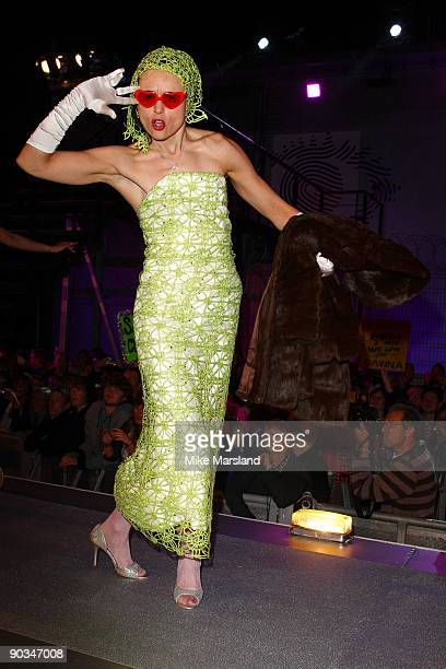 Angel McKenzie attends this year's Big Brother 10 Final at Elstree Studios on September 4 2009 in Borehamwood England