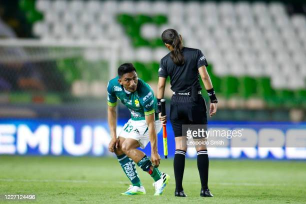 Angel Mena of Leon reacts after the match between Leon and FC Juarez as part of the friendly tournament Copa Telcel at Leon Stadium on July 14 2020...