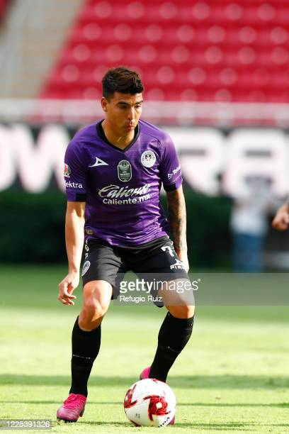 Angel Mendoza of Mazatlan drives the ball during the match between Atlas and Mazatlan FC as part of the friendly tournament Copa GNP por Mexico at...