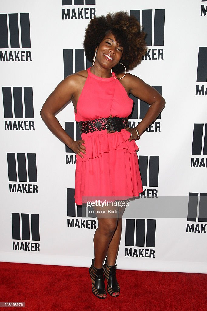 Angel Moore attends the Maker Studios Spark Premiere Event at ArcLight Cinemas on February 29, 2016 in Culver City, California.