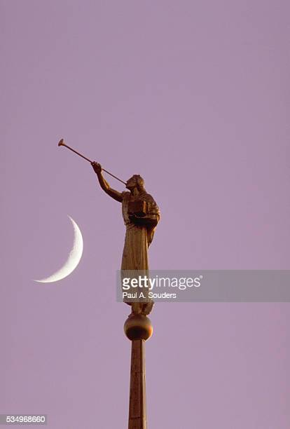 Angel Moroni and Crescent Moon